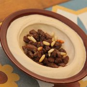 Hummus Lahmeh with BBQ
