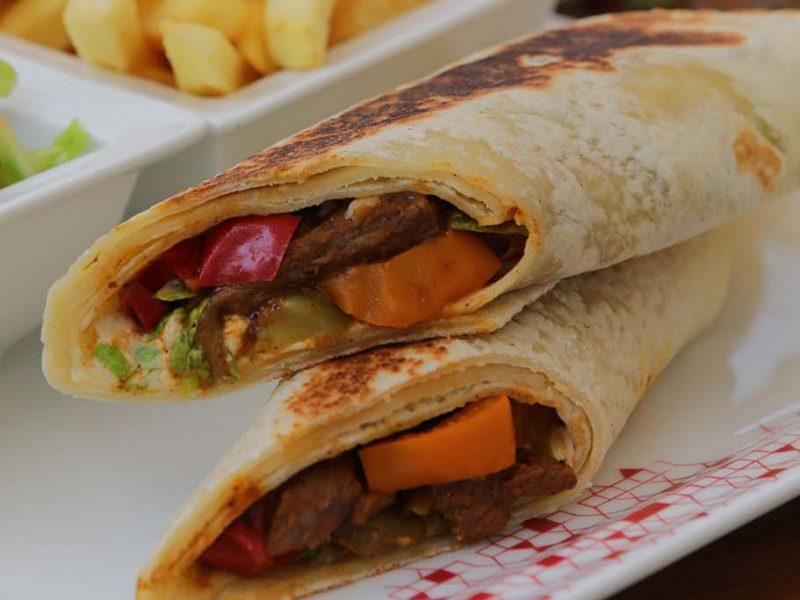 Lebanese Beef Fajita Wrap